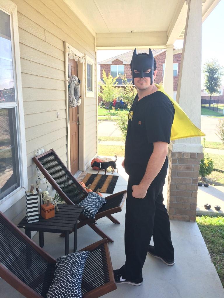 Batman heading off to work!